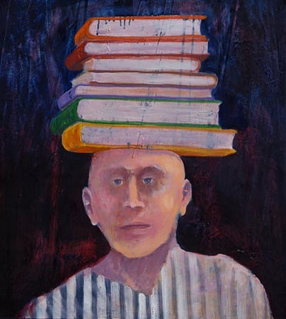 Mel McCuddin, The Acquisition of Knowledge oil on canvas