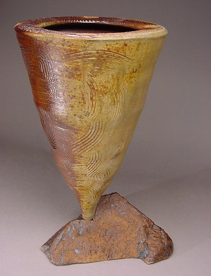 Terry Gieber, Dust Devil Series IV 2005, wood fired stoneware, slip