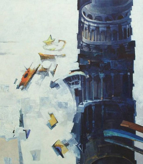 Robert Grimes, Tower 2003, oil on canvas