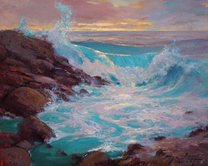 Kyle Paliotto, Big Island Surf 2013, oil on linen