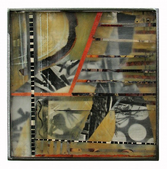 Michael Horswill, Crossroads 2014, glass, steel, paper, encaustic