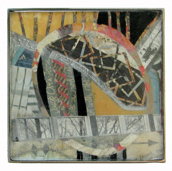 Michael Horswill, Clerestory 2014, steel, glass, paper, encaustic