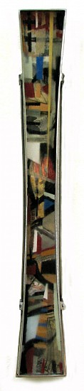Michael Horswill, Hour Glass 2014, steel, acrylic, paper, encaustic