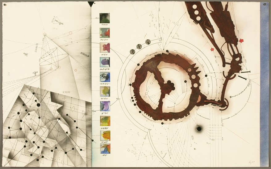 Timothy C. Ely, The Four Fictions No. 1 2007, mixed media on paper