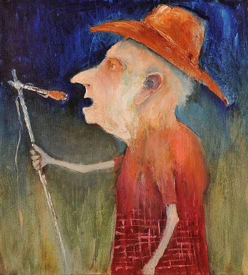 Mel McCuddin, The Old Crooner 2014, oil