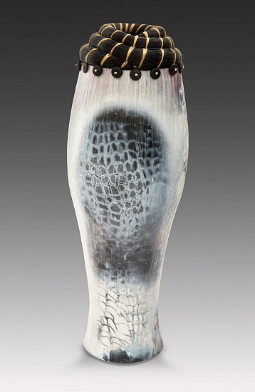 Valerie Seaberg, Beach Fired Vessel 2014, porcelain with horse hair