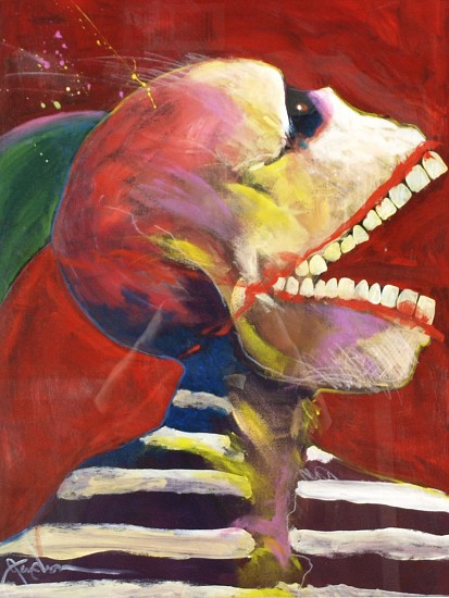 Ric Gendron, Sceaming Skull 2014, pastel on paper