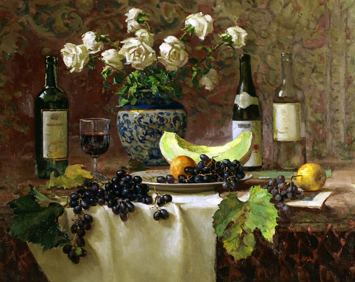 Del Gish, Wine and Roses oil on linen