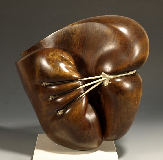 Morse Clary, Bound Form 1987, walnut, bone