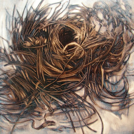 Mary Farrell, Summer Series 8 2015, ink on wood