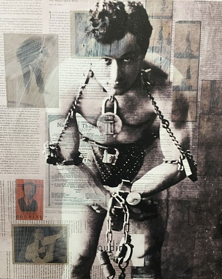 Byron Buchanan, Houdini 2015, mixed media collage