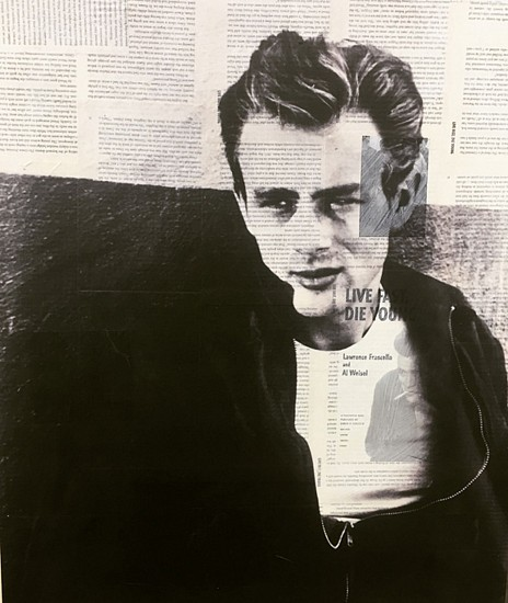 Byron Buchanan, James Dean 2015, hand-painted acrylic & collage