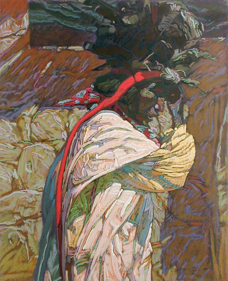 George Carlson, Turkey Feather Headdress 1988, serigraph - 130 colors