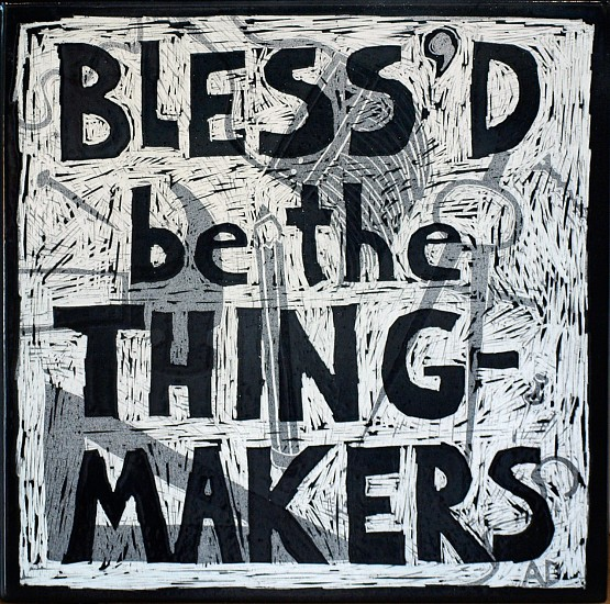 Allen Dodge, Blessed be the Thing Makers 2013, enamel on steel
