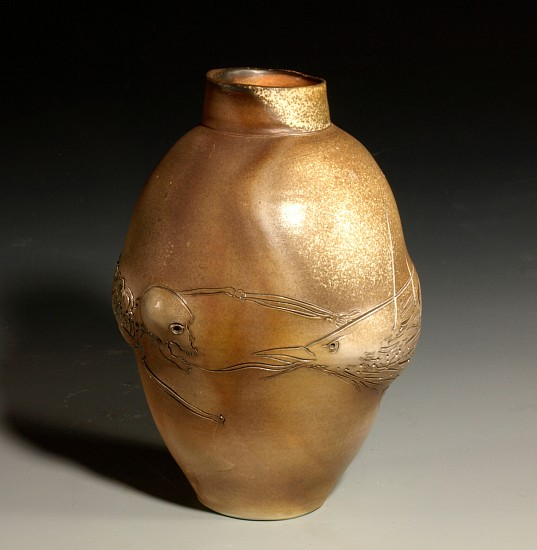 Frank Boyden, The Attack Vase 2010, wood-fired porcelain