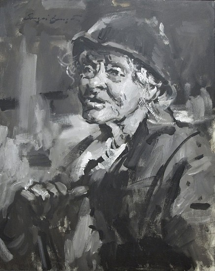Sergei Bongart, Old Beggar acrylic on canvas