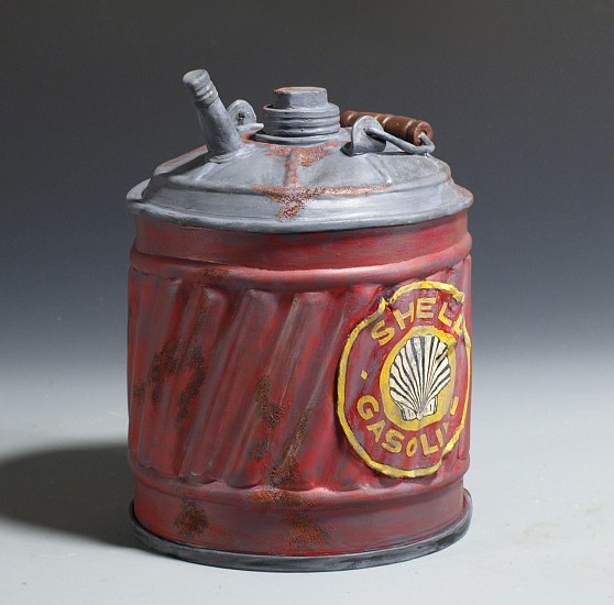 Michael R. Lee, Ed's Gas Can 2015, clay & acrylic