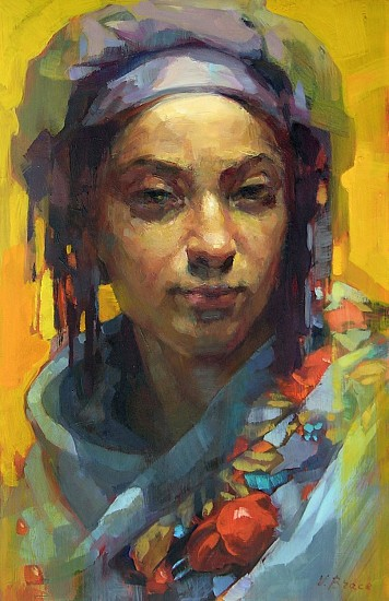 Victoria Brace, Girl in a Turban 2017, oil on mylar