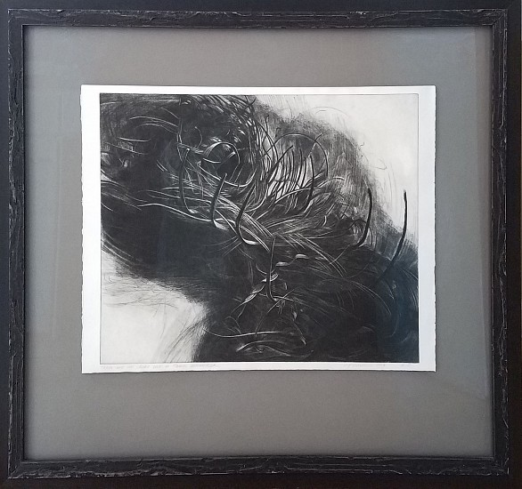 Mary Farrell, There Are No Ideas But in Things Unraveled mezzotint, drypoint
