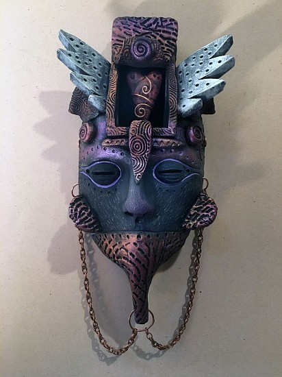 Chris Bivins, A Dream of Love 2017, ceramic, copper, acrylic