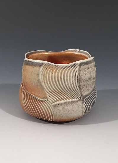 Chris Kelsey, Cup 7 2017, wood/soda fired stone ware