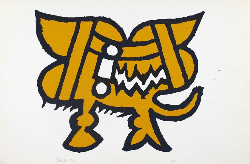 Harold Balazs, A Beasty silk screen print on paper
