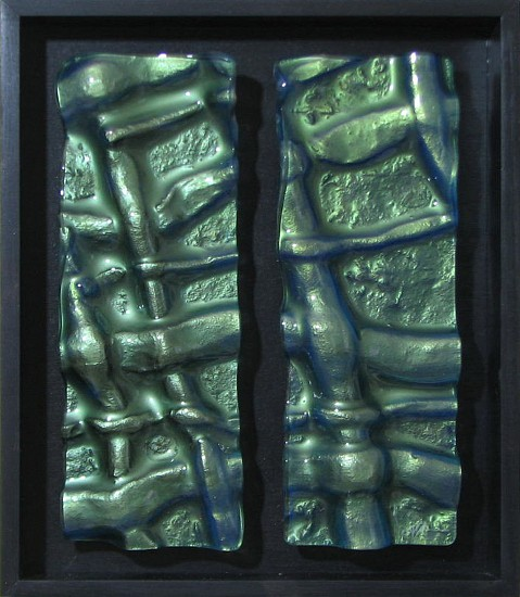 Steve Adams, Emerald Weave 2015, kiln cast glass