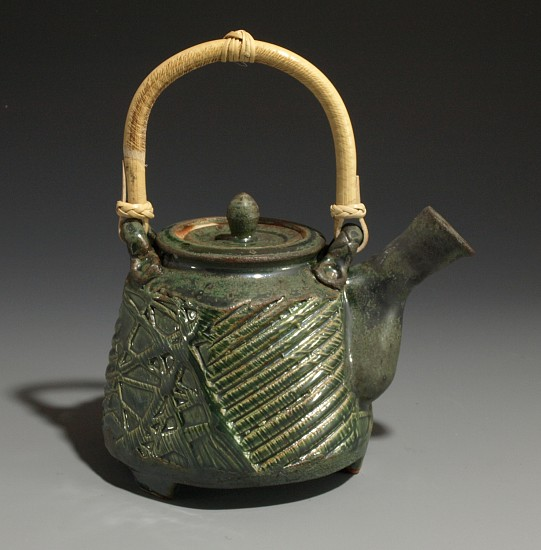 Terry Gieber, Cane Handled Teapot 2007, stoneware