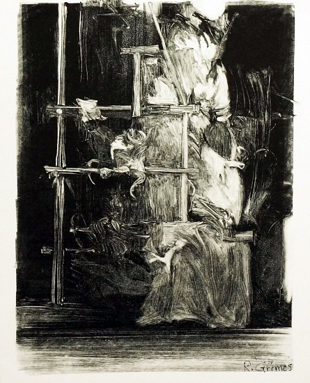 Robert Grimes, Scaffolding monotype on paper