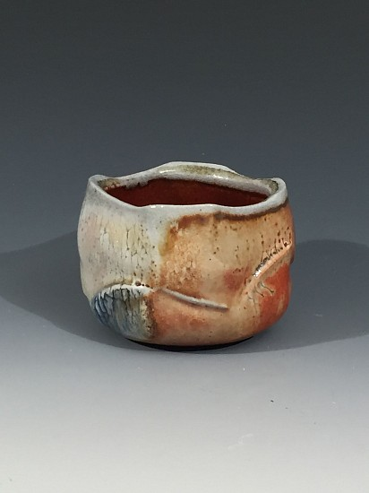 Chris Kelsey, Cup 5 2017, wood/soda fired stoneware with shino and oxides