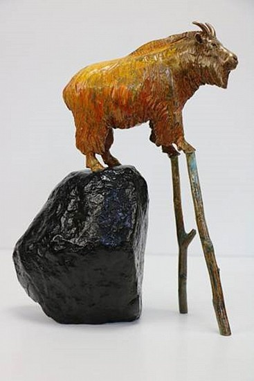 Brad Rude, Mountain Charlie 7/12 2017, Cast bronze, steel