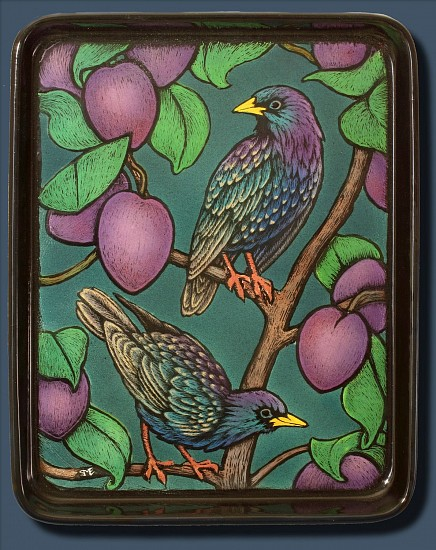 Sheila Evans, The Fault in Our Starlings 2017, enamel on steel tray
