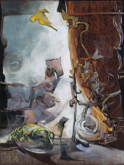 Robert Grimes, Suddenly #2 2014, oil on paper