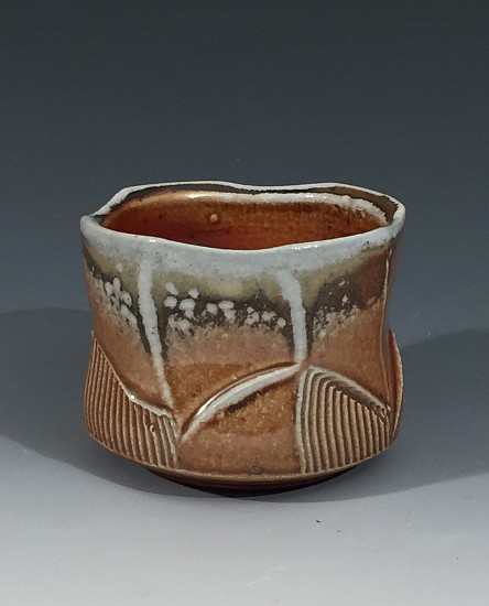 Chris Kelsey, Cup 1 2017, wood/soda fired stoneware