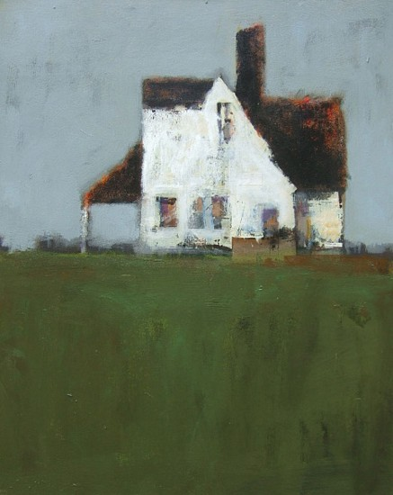 Robert Schlegel, House in a Field 2018, acrylic on canvas