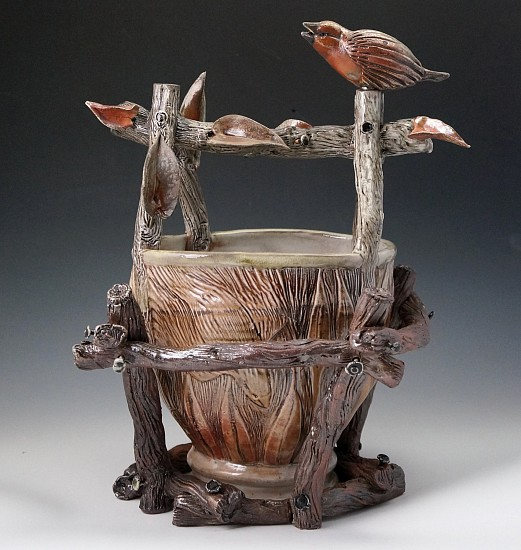 Gina Freuen, Harvesting in the Time of Pandemic 2020, soda fired porcelain and stoneware