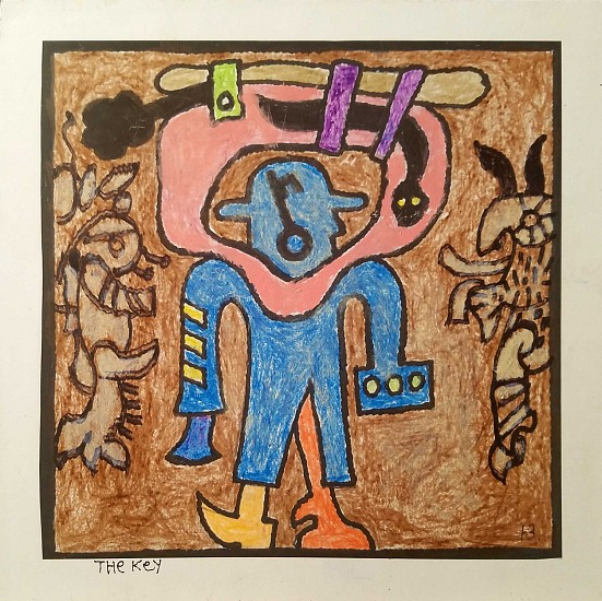 Harold Balazs, The Key 2015, print, crayon