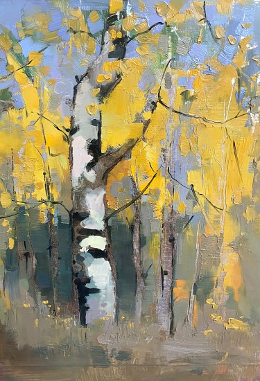 Shannon Troxler, Autumn Splendor 2020, oil on silver leaf